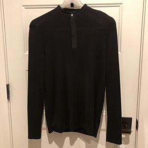 COS Grandad Collar Placket Sweater